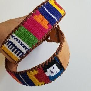 🔮 VINTAGE | Multicolor, Fabric Stitch Belt